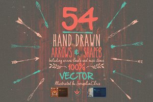 Hand Drawn Vector Arrows & Elements
