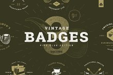Vintage Badges vol 3