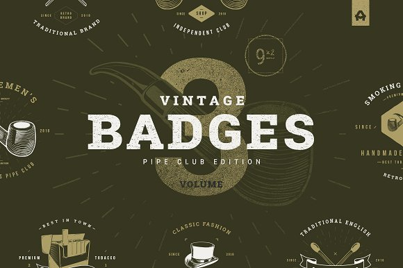 Vintage Badges Vol 3