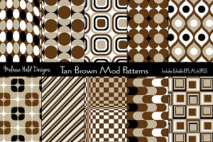 Brown & Black Mod Geometric Patterns
