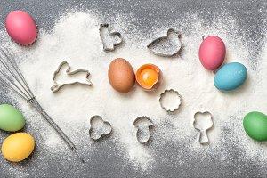 Easter food background