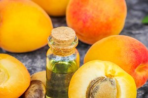 the apricot kernel oil.