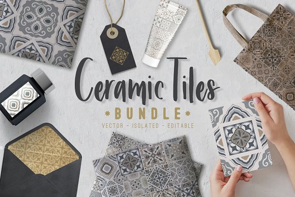 Ceramic Tiles Patchwork Set