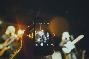 iPhone Shooting a Band