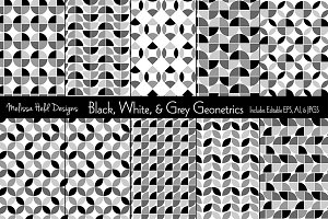 Black, White, & Grey Geometrics