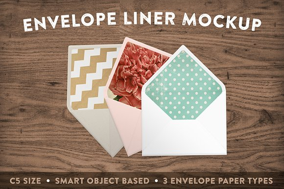 Download Envelope Liner Mockup