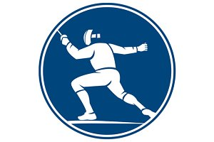 Fencing Side Circle Icon