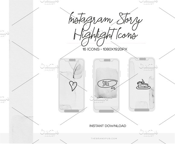 Instagram Stories Highlight Covers in Instagram Templates