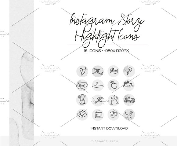 Instagram Stories Highlight Covers in Instagram Templates - product preview 1