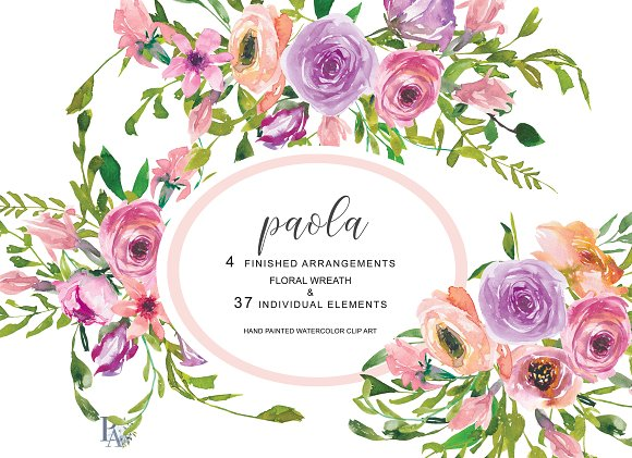 40% Off Watercolor Blush Pink Roses