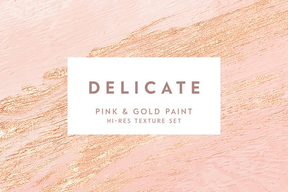 Pink Gold Hand Painted Texture Set