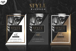 GOLD ELEGANCE Flyer Template