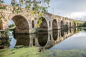 Merida Roman bridge in Spain