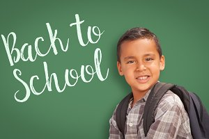 Hispanic Boy, Back to School