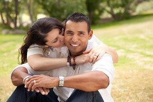 Hispanic Couple Portrait Outdoors