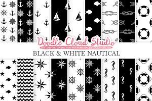 Black and White Nautical