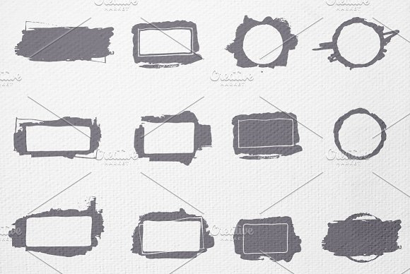 55 Hand-drawn, painted vector frames in Graphics - product preview 4