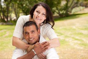 Hispanic Couple Outdoors
