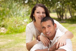 Attractive Hispanic Couple Portrait