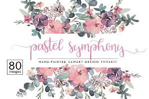 Pastel Symphony - Graphic Design Set