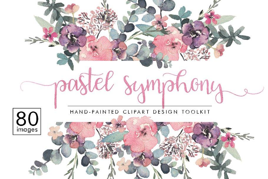 71c5fd3dda68 50% OFF Pastel Symphony - Design Set ~ Illustrations ~ Creative Market