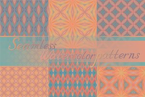 21 seamless watercolor texture