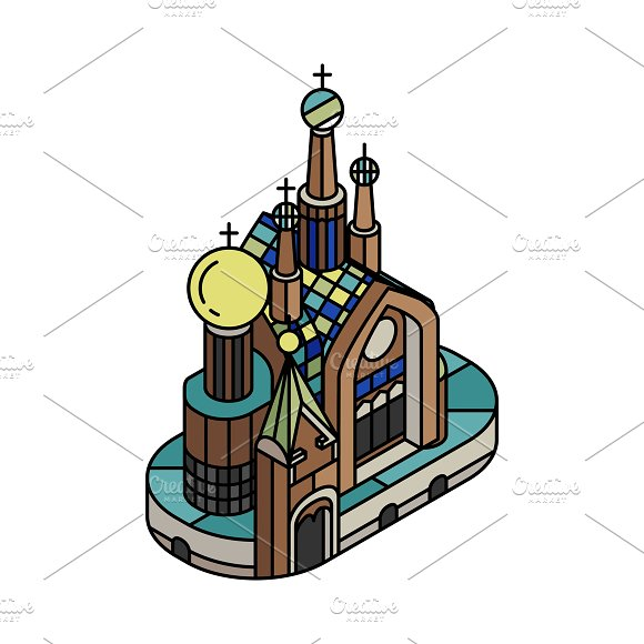 Illustration Of Church Of The Savior