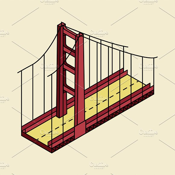 Illustration Of The Golden Gate