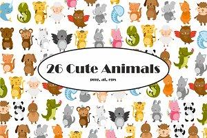 Cute Animals Vector Clipart