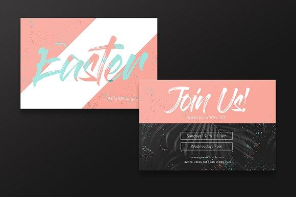 easter invitation card invitation templates creative market