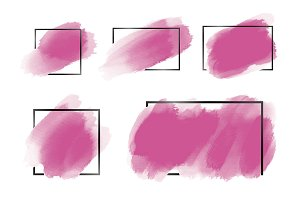Pink watercolor brush