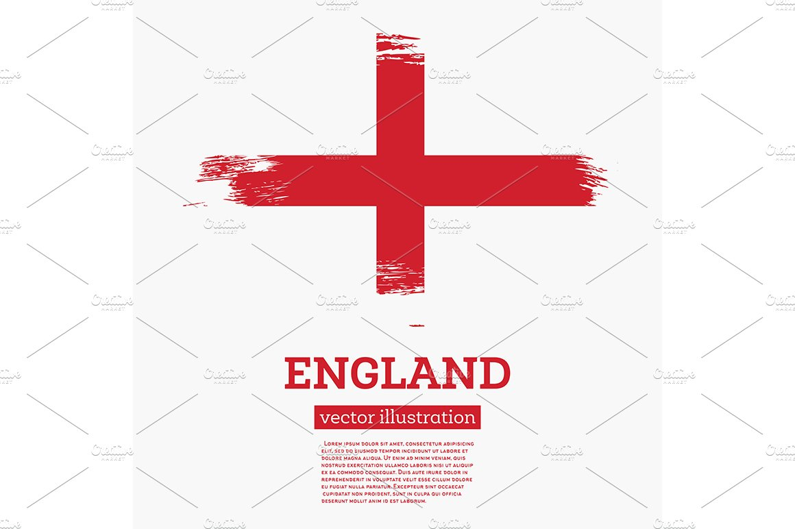 england flag with brush strokes illustrations creative market