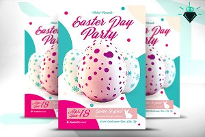 Easter Day Party Flyer PSD