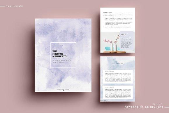 M2 Ebook Template Powerpoint Keynote Magazine Templates Creative