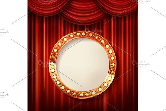 Set Cinema Golden Round Frames