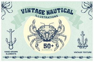 Sea & Nautical Vintage Illustrations