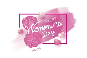8 march happy womens day design