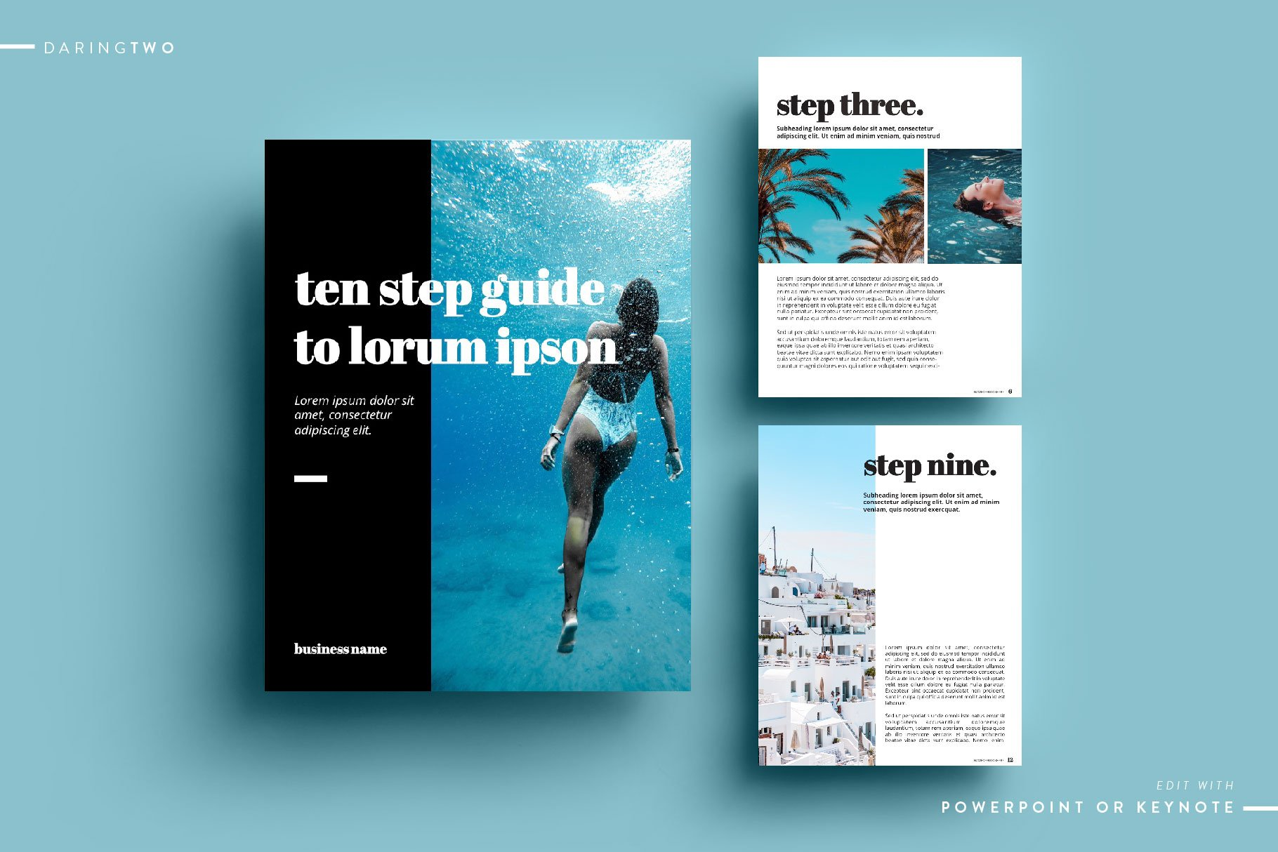 t2 ebook template powerpoint keynote magazine templates creative market. Black Bedroom Furniture Sets. Home Design Ideas