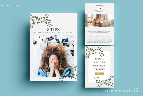 T4 Ebook Template Powerpoint Keynote Magazine Templates Creative