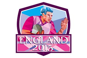 Rugby Player Fend Off England 2015 L
