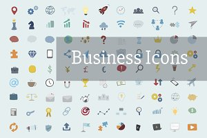 Illustration of business icons