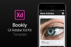 iOS Bookly UI Adobe Xd Kit Template