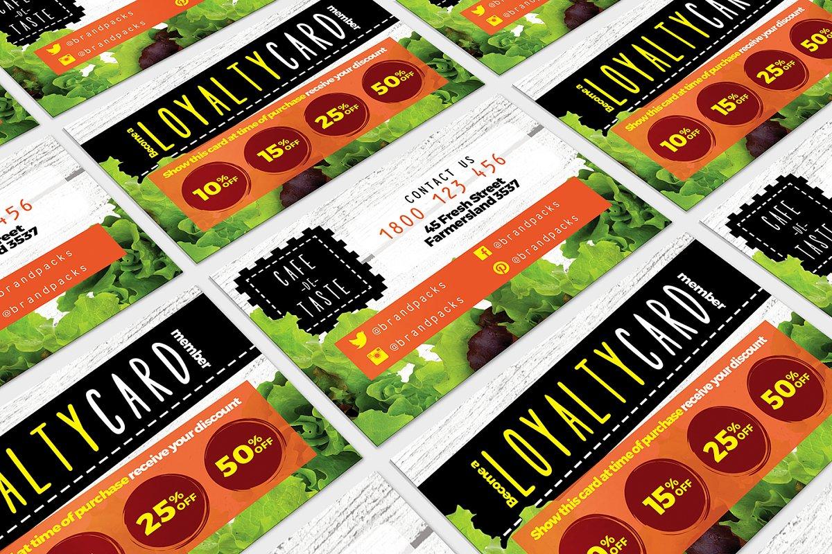 Salad Restaurant Loyalty Card