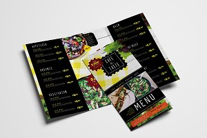 Trifold Salad Menu Template