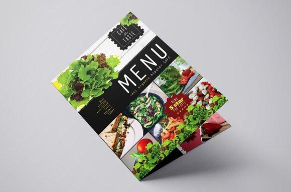 folding a3 salad menu template flyer templates creative market