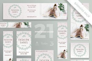 Banners Pack | Fashion Shoes