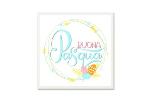 Buona Pasqua. Italian Easter Card