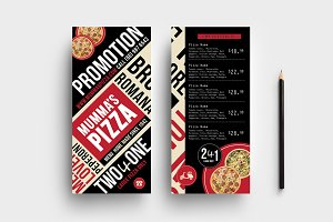 trifold pizza menu template brochure templates creative market