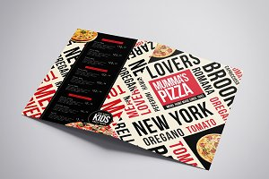 Folding A3 Pizza Menu Template
