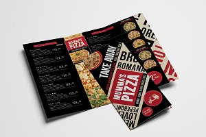Trifold Pizza Menu Template